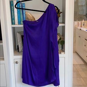 Blue/purple one shoulder cocktail dress